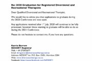 2020 Graduation for Registered DRTs