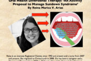 ORAL HEALTH DT: 'An Activity Proposal to Manage Sundown Syndrome' by Reina Marica V. Arias